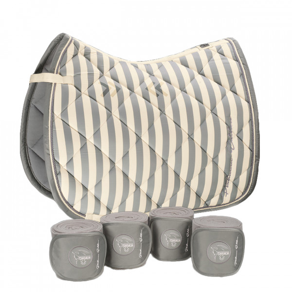 ESKADRON Set Platinum Schabracke Glossy Striped Pony